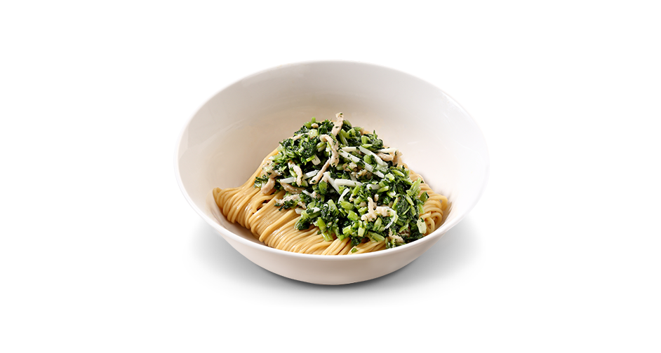 Noodles with Chinese Mustard Greens and Shredded Pork