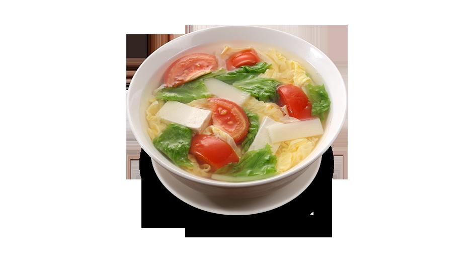 토마토 두부<br>야채 계란 탕