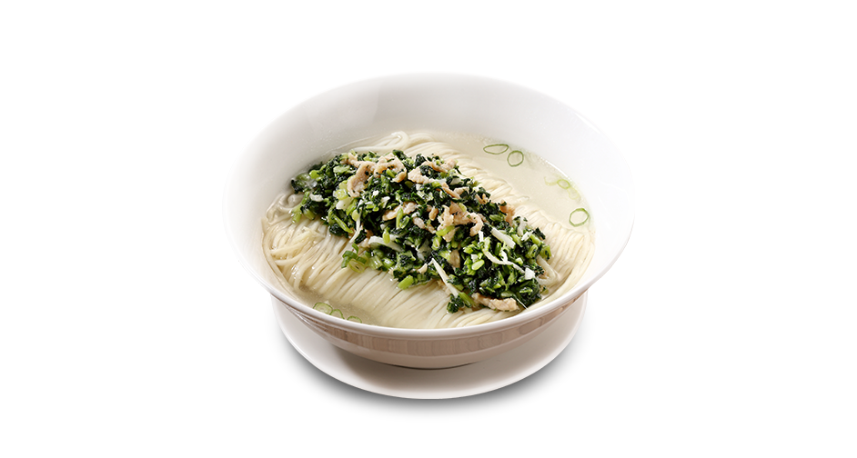 Noodle Soup with Chinese Mustard Greens and Shredded Pork