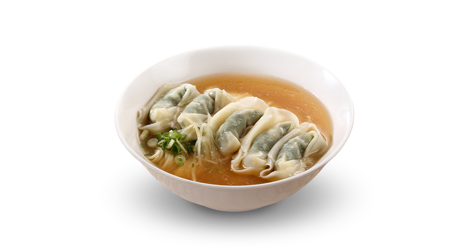 Vegetable and Ground Pork Wonton Noodle Soup