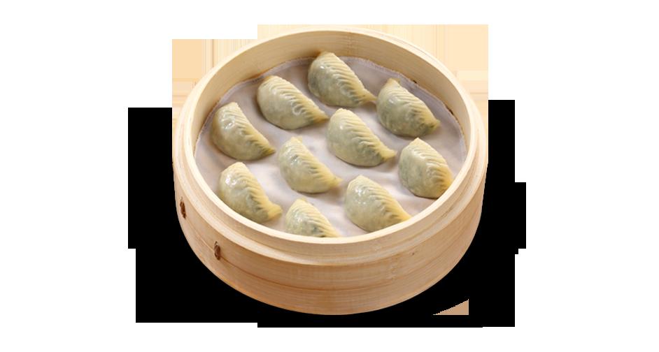 Steamed Vegetable and Ground Pork Dumplings