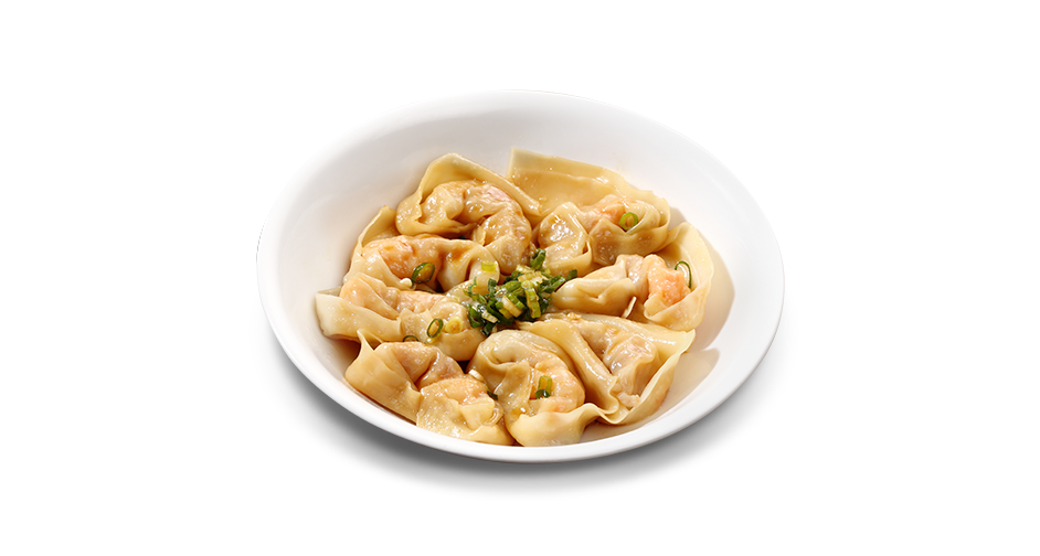 Shrimp and Pork Wontons with House Soy Sauce